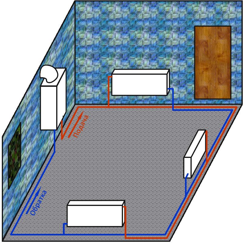 Типовые схемы отопления частного дома.